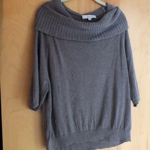 Ann Taylor Loft soft brown sweater with cowlneck